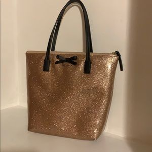 Sparkly rose gold Kate spade purse